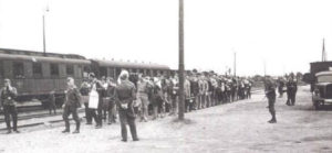 POWs at trains station