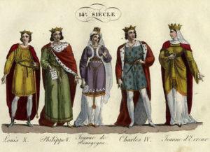 Louis-X-Philippe-V-Jeanne-de-Bourgogne-Charles