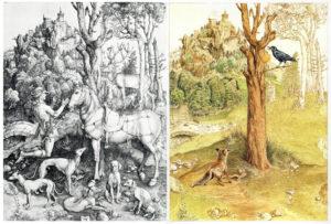 La Fontaine (Nathan-Jeunesse) Le Corbeau & Le Renard (avec gravure de Dürer)
